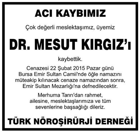 DR. MESUT KIRGIZ