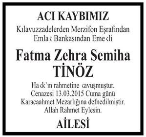 Fatma Zehra Semiha TİNÖZ