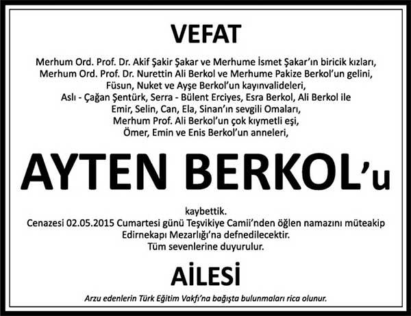 AYTEN BERKOL