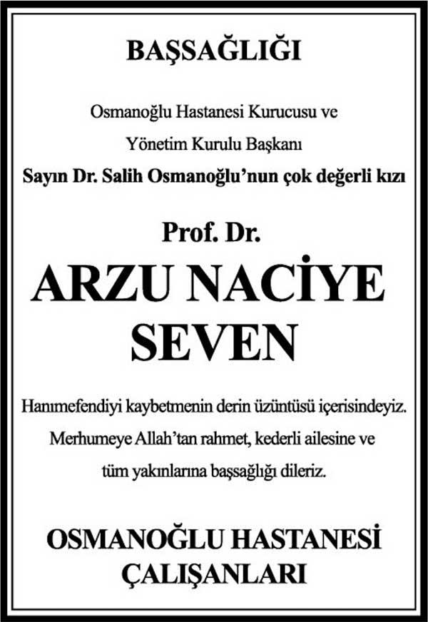 PROF.DR. ARZU NACİYE SEVEN