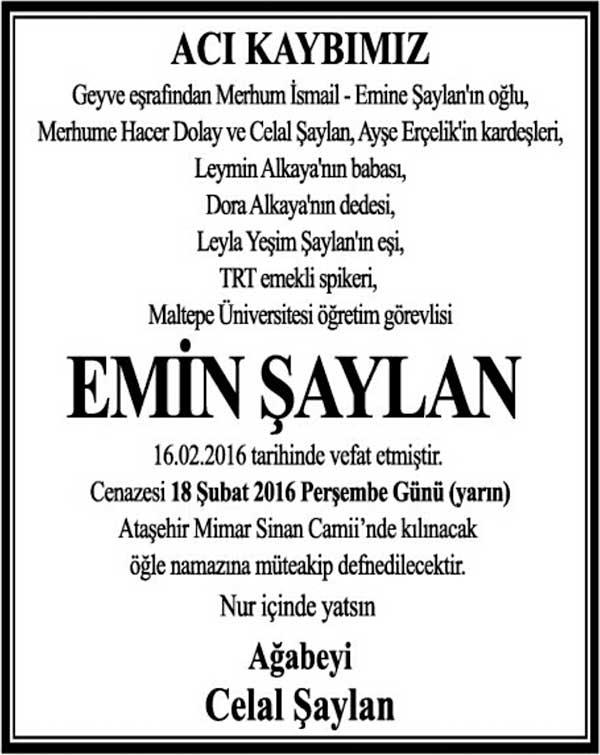 EMİN ŞAYLAN
