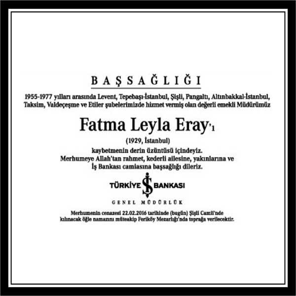FATMA LEYLA ERAY