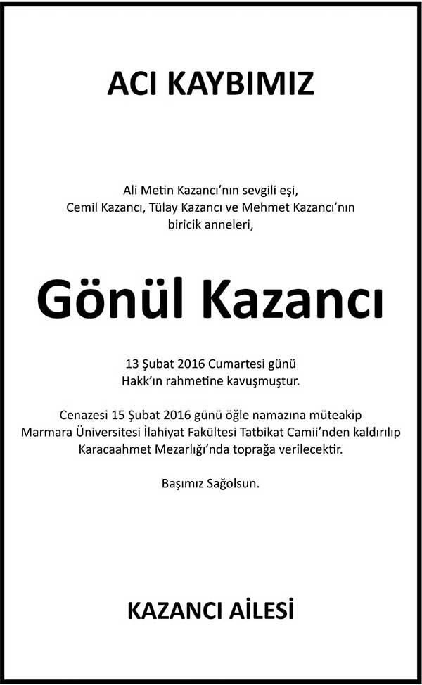 GÖNÜL KAZANCI