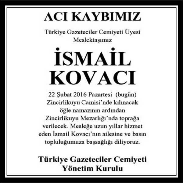 İSMAİL KOVACI