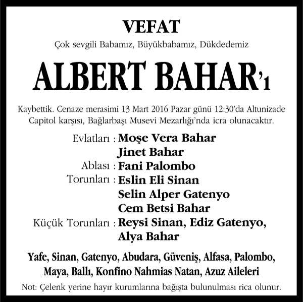 Albert Bahar