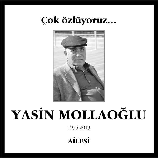 Yasin Mollaoğlu Hürriyet Gazetesi Vefat ilanı
