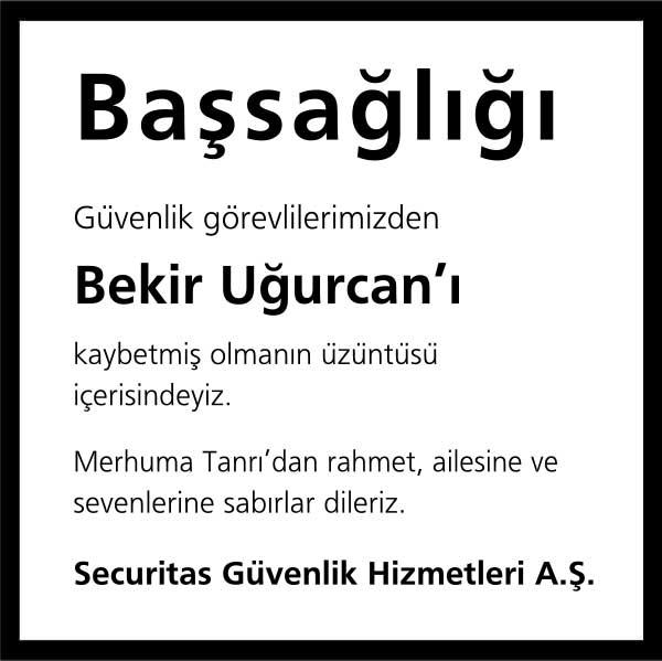 Bekir Uğurcan Posta Gazetesi Vefat ilanı