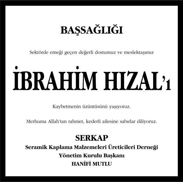 İbrahim Hızal Hürriyet Gazetesi Başsağlığı ilanı