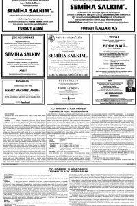 Hürriyet Vefat ilan sayfaları