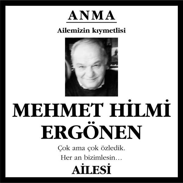 Mehmet Hilmi Ergören Hürriyet gazetesi Anma ilanı