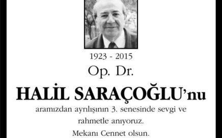 Op. Dr. Halil Saraçoğlu Hürriyet Gazetesi Anma ilanı