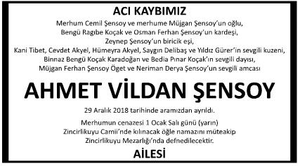 AHMET VİLDAN ŞENSOY