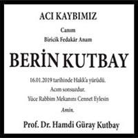 Berin Kutbay Hürriyet Gazetesi Vefat ilanı