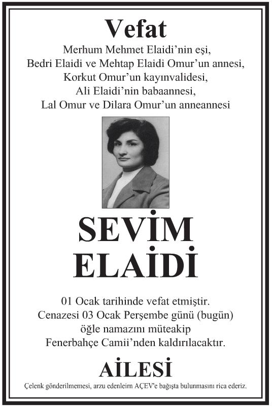 SEVİM ELAİDİ
