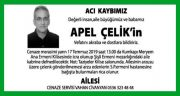 Apel Çelik Hürriyet Gazetesi Vefat İlanı