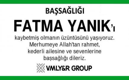 Fatma Yanık Hürriyet Gazetesi Başsağlığı İlanı