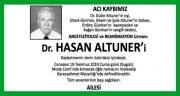 Hasan Altuner Hürriyet Gazetesi Vefat İlanı