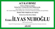 İlyas Nuhoğlu Hürriyet Gazetesi Vefat İlanı