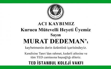 Murat Dedeman Hürriyet Başsağlığı İlanı