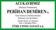 Perihan Demiren Hürriyet Gazetesi Başsağlığı İlanı