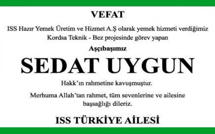 Sedat Uygun Hürriyet Gazetesi Başsağlığı İlanı