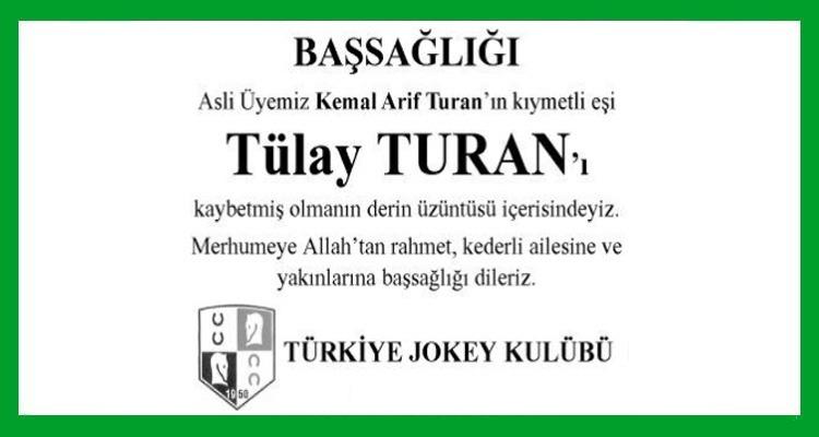 Tülay Turan Hürriyet Gazetesi Başsağlığı İlanı