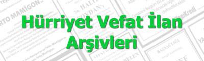 2012/2013/2014/2015/2016/2017/2018/2019 Hürriyet Gazetesi Vefat İlan Arşivi