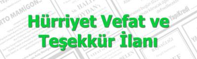 İstanbul Vefat ve Teşekkür İlanları. Kolayca gazetelere Vefat ve Teşekkür ilanı veya doktora teşekkür ilanı verin.