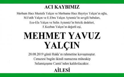 Mehmet Yavuz Yalçın Hürriyet Vefat İlanı