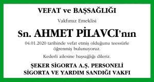 Ahmet Pilavcı Hürriyet Başsağlığı İlanı