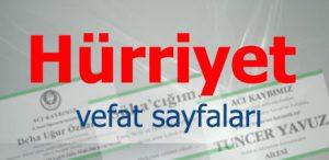 hürriyet gazete cenaze sayfası