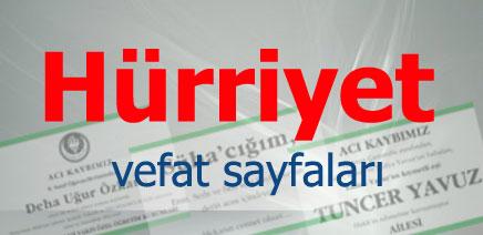 Hürriyet Gazetesi Bugünkü Vefat İlanları, cenaze sayfası