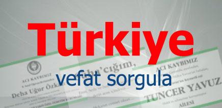 Türkiye Vefat İlan Listeleri