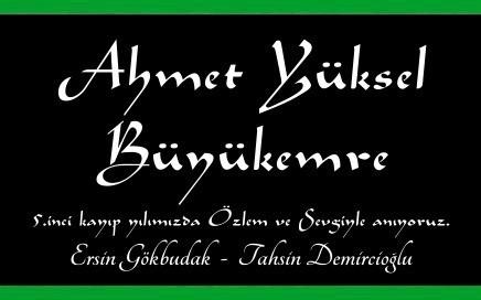 Ahmet Yüksel Büyükemre Anma İlanı