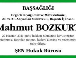 Mahmut Bozkurt Sözcü Başsağlığı İlanı